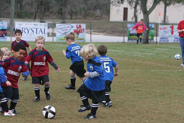 Lil' Rascals December soccer game
