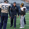 Littleton High School football held a practice on Wednesday to get ready for Saturday's Super bowl game at Gillette Stadium. Head Coach Mike Lynn goes over plays during the practice. SUN/JOHN LOVE