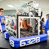 Stand alone photo of the robot that was built by Team 6328 Mechanical Advantage from Littleton. It took the team roughly 6 weeks to build the robot for their competitions in March. SUN/Caley McGuane