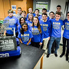 Group photo of Team 6328 Mechanical Advantage from Littleton. It took the team roughly 6 weeks to build their robot for the competitions that they'll be competing in, in March. SUN/Caley McGuane