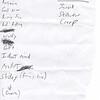 Set List, Resonant Soul Reunion, @ The Blarney Bullpen, September 21, 2013