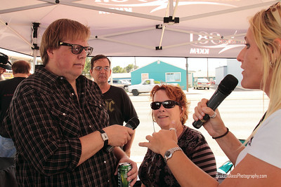 Chuck and Judy (the owner of Indy Records) being interviewed by 98.1 Classic Rock KKFM
