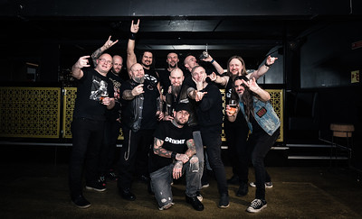 Cult Of Doom, Welcome to Hell and Sinsid group shot
