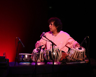 Zakir Hussain on stage at the Westhampton Beach Performing Arts Center, 29 May 2010.