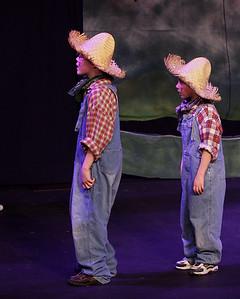 Jack & the Beanstalk, 19 February 2010: Bjorn Christensen & Garrett Collins as the Farmers.