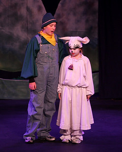 Jack & the Beanstalk, 19 February 2010: Donna Wilcox as Jack & Kay Horak as Milky White.