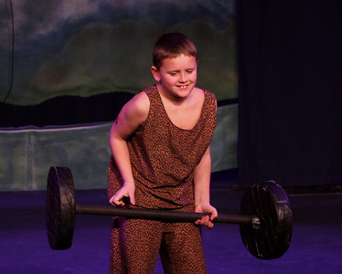 Jack & the Beanstalk, 19 February 2010: Lucas Felix as the Strong Man.