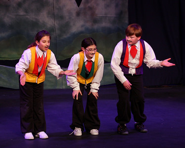 Jack & the Beanstalk, 19 February 2010: Chloe Gaget, Kayla Pepe, & Liam Somers as Merchants.