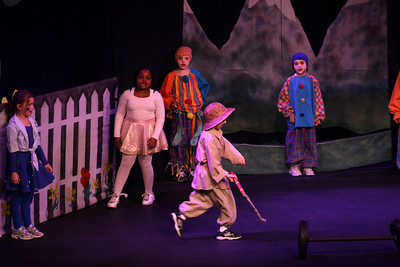 Jack & the Beanstalk, 19 February 2010: Amani Richards as the Ballerina, Andrew Judd and Lucas Nelson as the Clowns, and Milo Leahy-Miller as the Lion Tamer.
