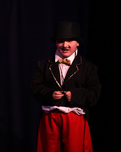 Jack & the Beanstalk, 19 February 2010: Michael Wicks as the Ring Master.