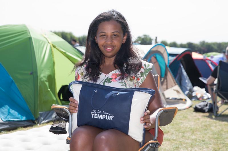 #GAMESETNAPS: Tempur treats Wimbledon Queuers to a better night's sleep, Wimbledon, London 1st July 2018