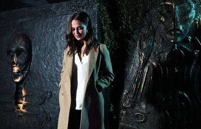 05/03/18 - Oscar-Winning actress Alicia Vikander unveils the new Tomb Raider Escape Room