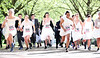 Brides and grooms-to-be race to win £8,000, London, UK, 8th May 2018