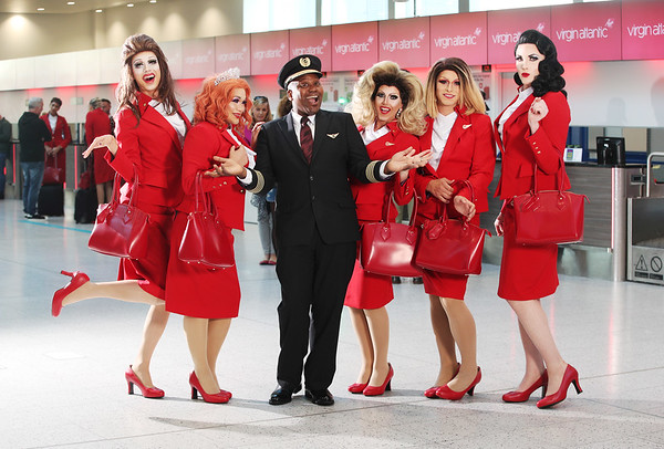 """10/10/2018 - Virgin launches the UK's first """"Pride Flight"""" between London and New York City."""