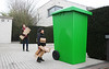 DS Smith - Giant green recycling bin