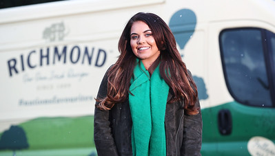 13/02/18 - Scarlett Moffatt teams up with Richmond sausages on 'Nation's Favourites' campaign to reward our favourite workforces
