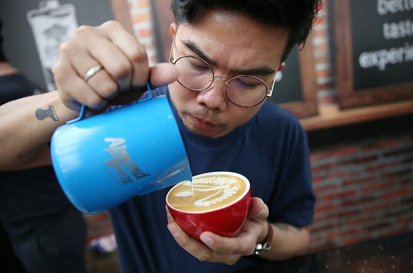 13/04/18 Latte Art at London Coffee Festival