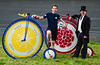 Record-breaking long-distance cyclist Mark Beaumont prepares to take on the R.White's Lemonade Penny Farthing One Hour World Record next month at the World Cycling Revival festival, London, UK, 5th April 2018
