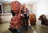 Buffalo Trace Chainsaw Sculpting
