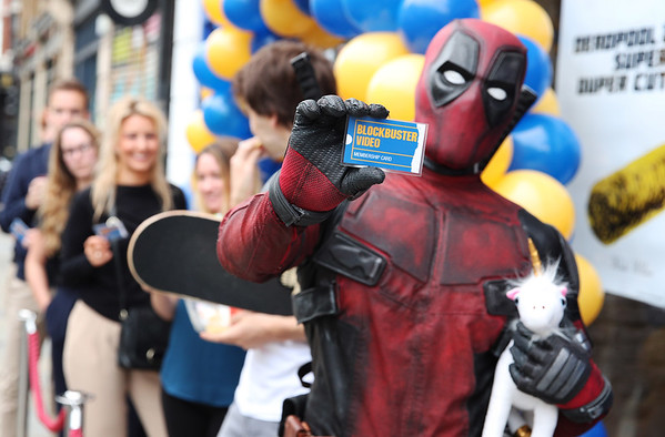 17/9/18 DEADPOOL 2 TURNS BACK TIME AND BRINGS BLOCKBUSTER VIDEO BACK TO THE UK