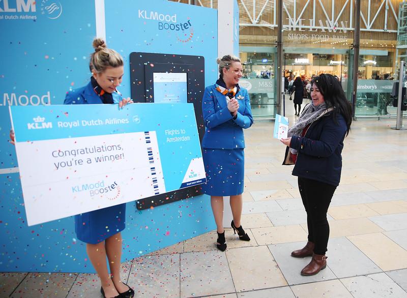 KLM Royal Dutch Airlines Mood Booster pop-up
