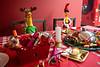 Beano - Rubber Chicken Christmas Window