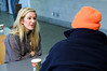 Ellie Goulding volunteers at a Crisis at Christmas centre which supports homeless people this Christmas.