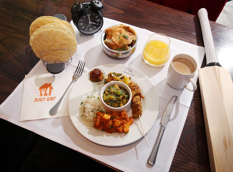 Just Eat Full Indian Breakfast for cricket fans