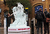 Planet of the Apes ice sculpture, London, UK, 27th November 2017