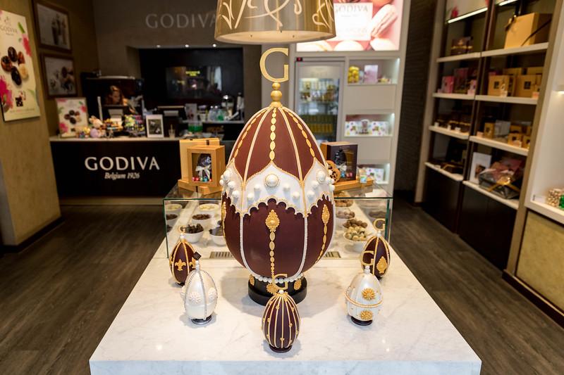Godiva unveil Atelier Easter egg at Godiva Regent Street, London, UK - 27 Mar 2018.
