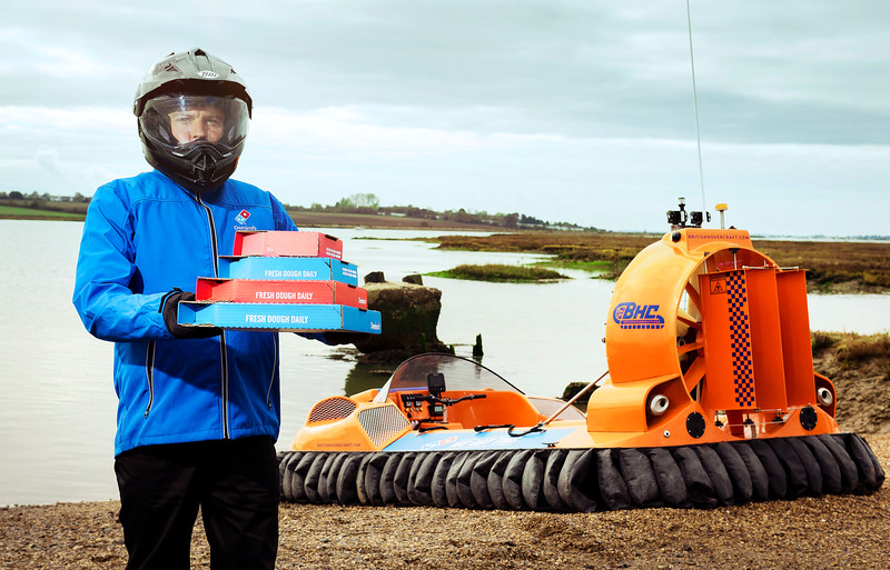 Domino's hovercraft pizza delivery