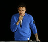 Liam Payne performing at star-studded VOXI launch