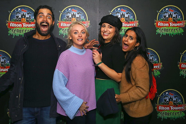 5/10/18 Celebrities at Alton Towers Scarefest 2