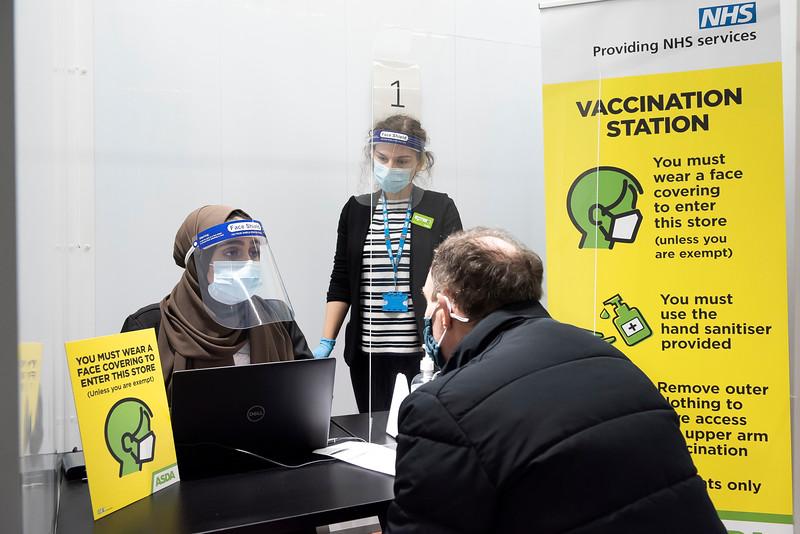 Asda's 10,000th Covid vaccination