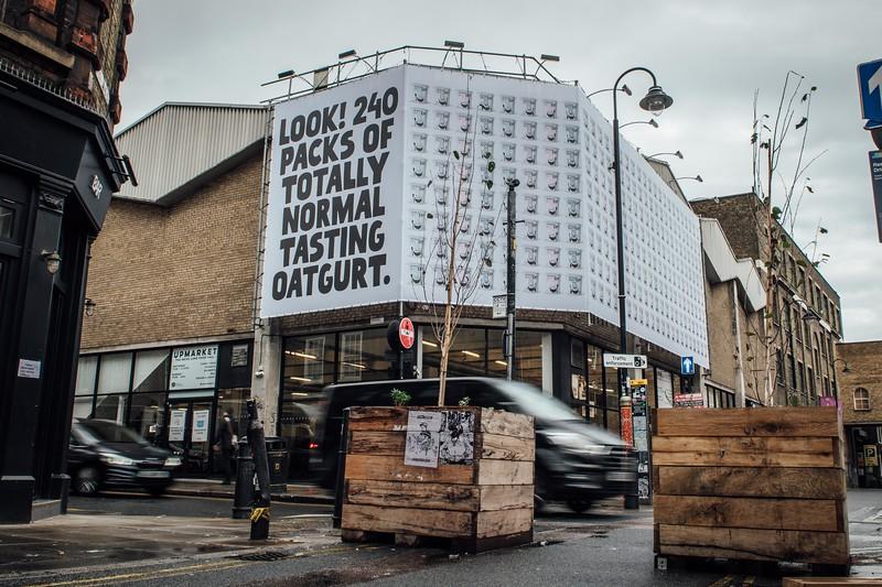 Oatly - totally normal Oatgurt OOH campaign