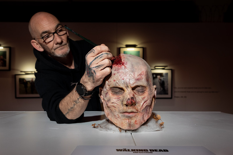 Preview of the Official The Walking Dead immersive art gallery - 7th Feb 2019 - London