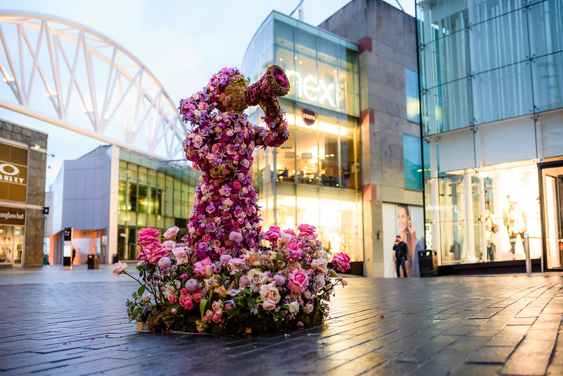 Fearless Friend, by GirlCrew.com, stands defiant at Birmingham Bullring to celebrate International Women's Day.<br /> <br /> FREE FOR EDITORIAL REPRODUCTION