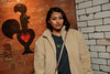 Vanessa White was pictured before Yxng Bane's explosive performance, celebrating the fourth year of Nando's Music Exchange and the opening of its first ever free-to-use in-restaurant studio<br /> <br /> FREE FOR EDITORIAL REPRODUCTION