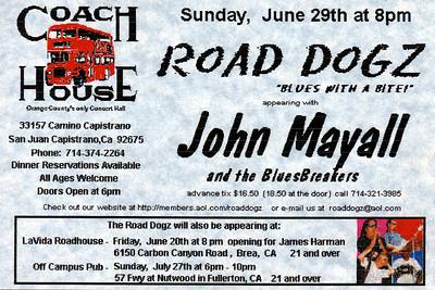 Coach House flyer