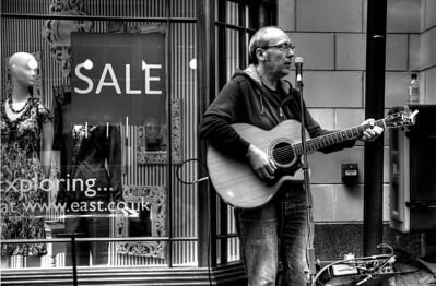 2.4.2011 Hague busking @ Morpeth - Sandersons Arcade