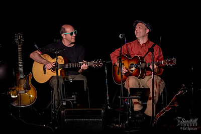 Richard Gilewitz and Tim May having fun onstage