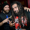 Frontman Brock Lindow of 36 Crazyfist with Steev Esquivel, singer of Skinlab