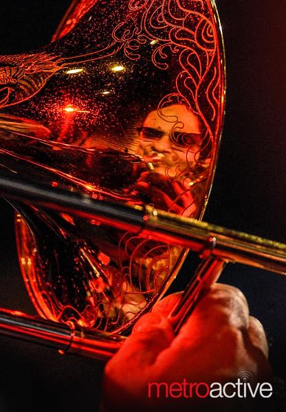 Steve Turre ~ reflection in horn