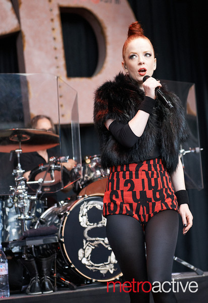 """Garbage performing at BFD 2012 held on June 2nd, 2012 at the Shorline Amphitheater.  Photo by Peter Adams / In Startup Land - <a href=""""http://www.instartupland.com"""">http://www.instartupland.com</a>"""