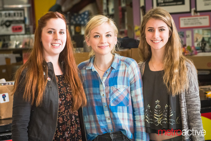 Emily Kinney with fans