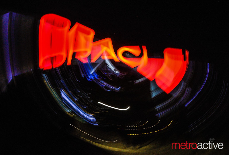 Oracle Arena exterior (long exposure)