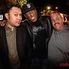 """SoFA Icon Larry """"Stikmon"""" Woods (center) celebrates during his own wake!"""
