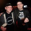 Local icons Patrick Clark (L) and Phil Toole (R) enjoy some suds