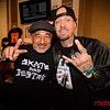 San Jose Skateboarding icon Steve Caballero (L) with a fan