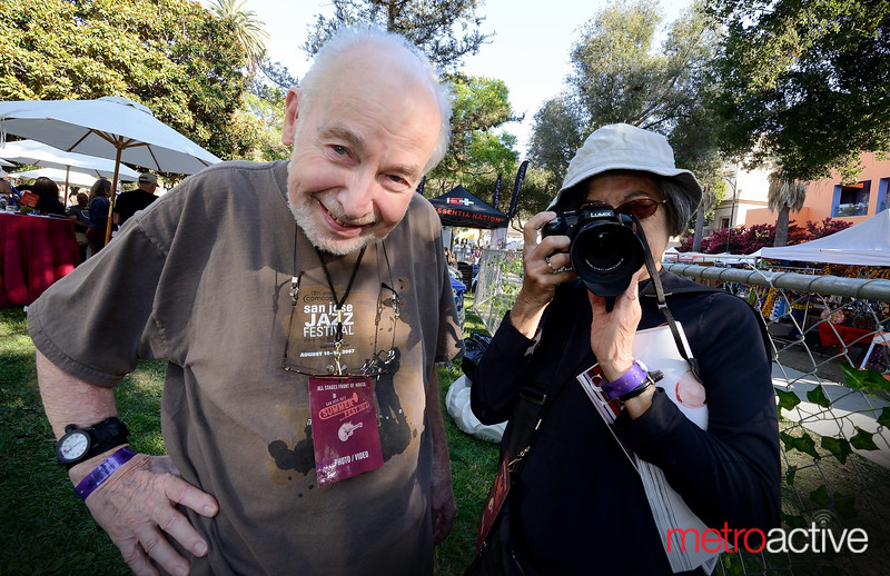 Long time Jazzfest photographers Walter & Marilyn